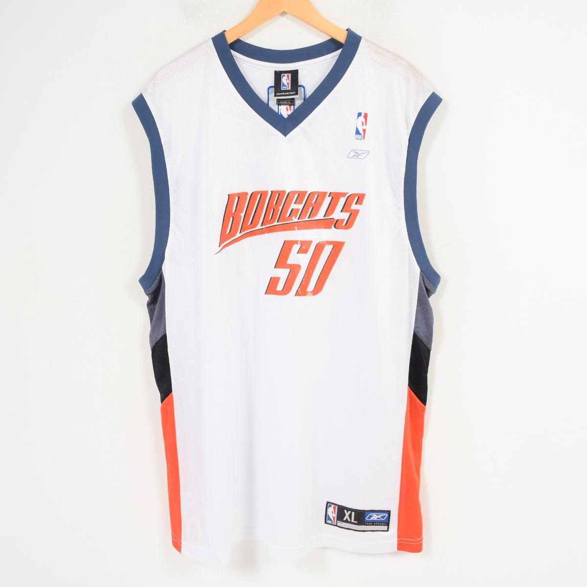 new styles fb338 60149 DEADSTOCK dead stock Reebok Reebok NBA CHARLOTTE BOBCSTS Charlotte Bobcats  game shirt replica uniform men XL /wap0662