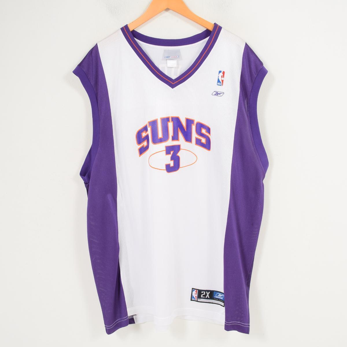 a138281f9a83 Reebok Reebok NBA PHOENIX SUNS Phoenix Suns Stephon Marbury Stephon Marbury  game shirt replica uniform men XXL  wap0666