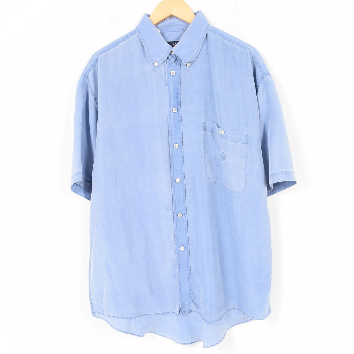 online store 225c4 cbff5 DANIEL HECHTER short-sleeved silk shirt men L /wap0195 who are button-downed