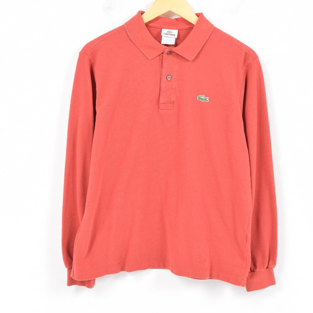Vintage Clothing Jam Lacoste Lacoste France Plan Long Sleeves Polo