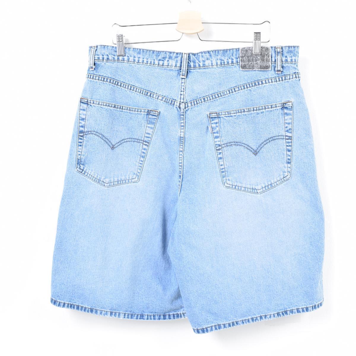 98e5a553 90s Levis Levi's SILVER TAB silver tab BOXY SHORT denim shorts short pants  men w39 /wap3262