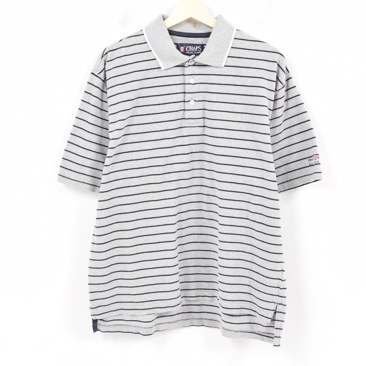 8a4e0bf668 90s Ralph Lauren Ralph Lauren CHAPS Clearing House Automated Payments  System short-sleeved horizontal stripe ...