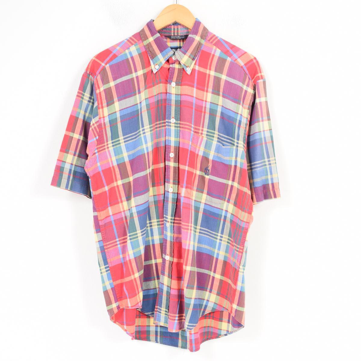 Vintage Clothing Jam 90s Nautica Nautica Short Sleeves Check Shirt