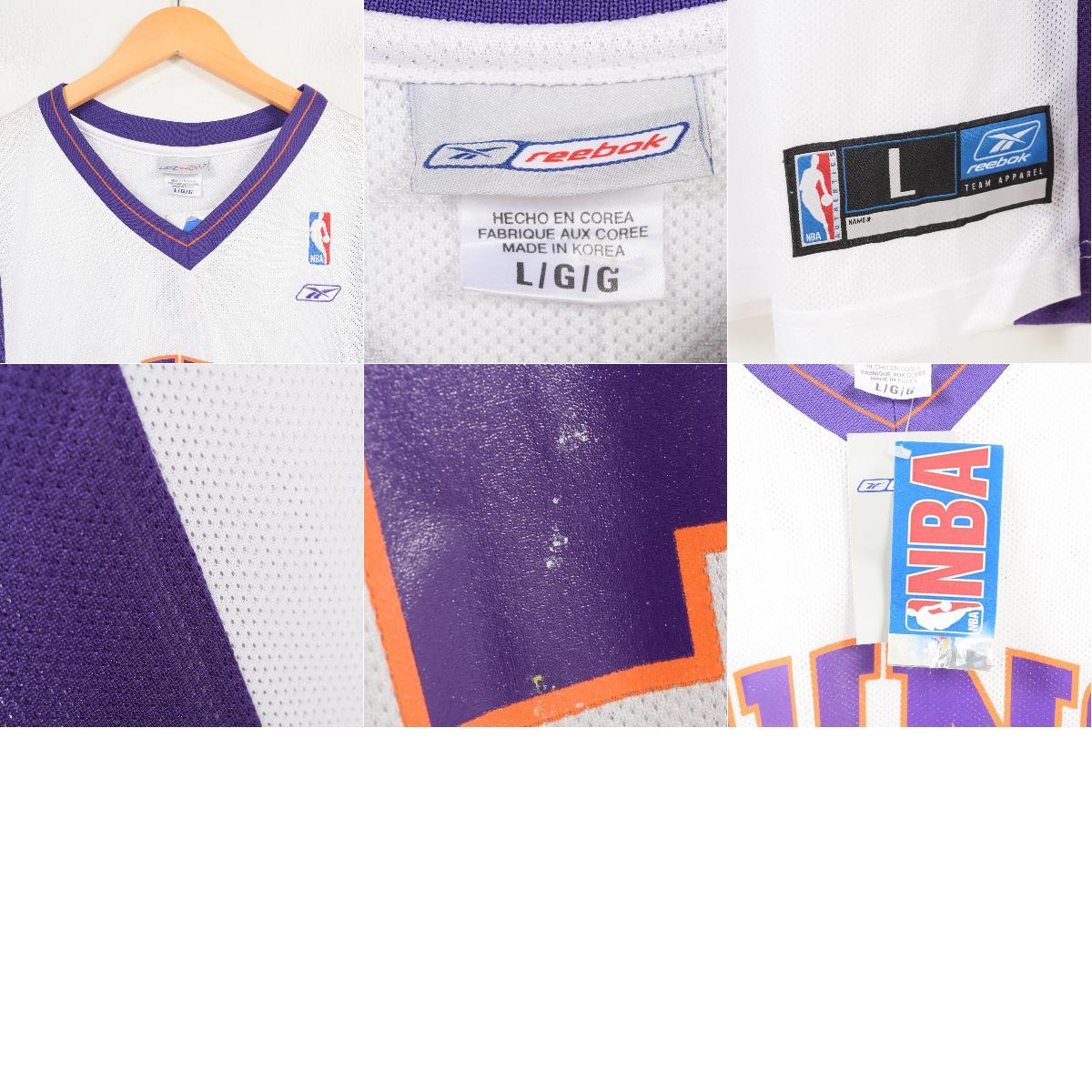 e6321ce8b5df DEADSTOCK dead stock Reebok Reebok NBA PHOENIX SUNS Phoenix Suns STEPHON  MARBURY Stephon Marbury game shirt replica uniform men XL  wap0663