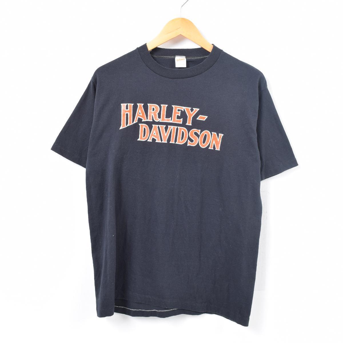 80年代 ハーレーダビッドソン Harley-Davidson モーターサイクル バイクTシャツ USA製 メンズL ヴィンテージ /war6218 【中古】 【180407】