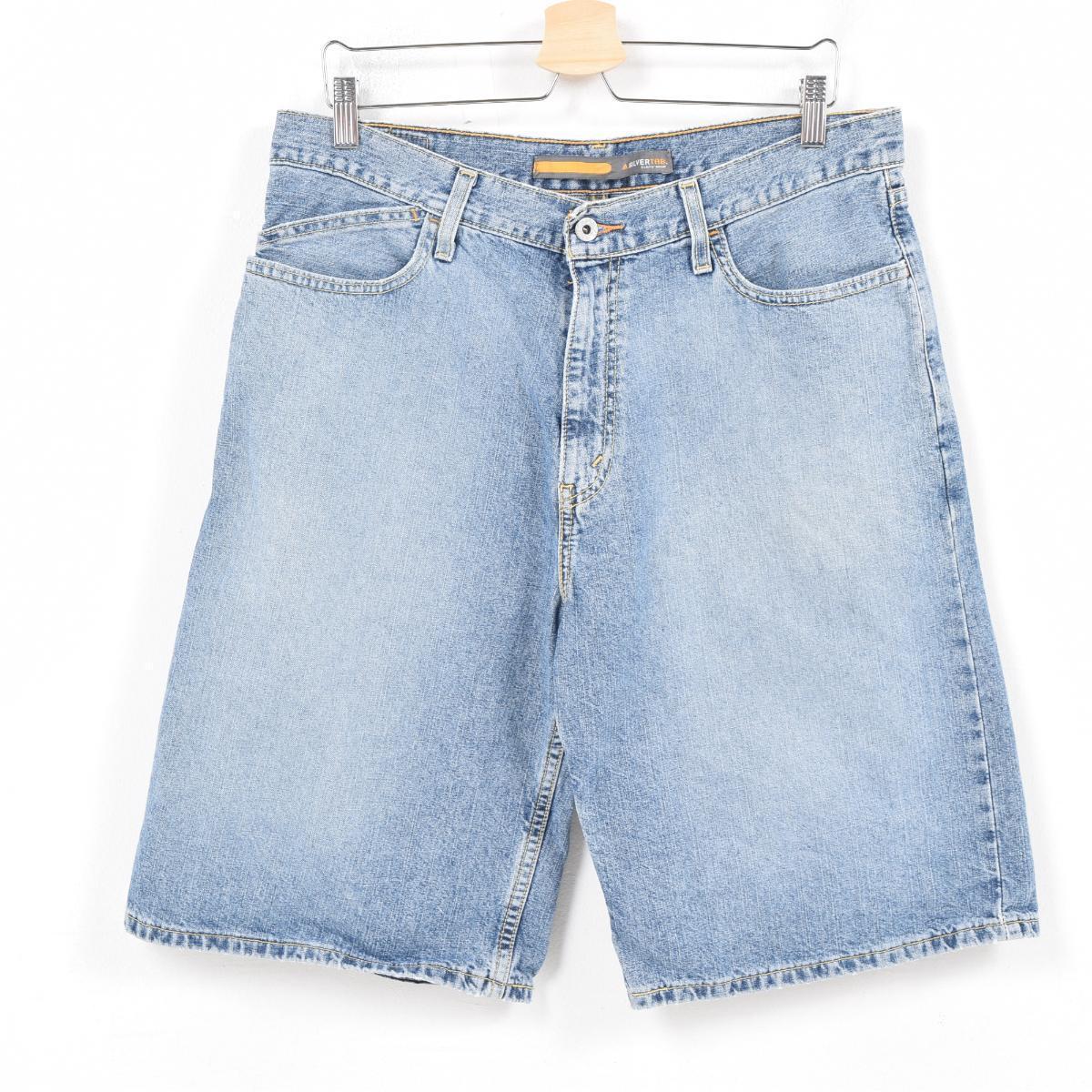 loose denim shorts