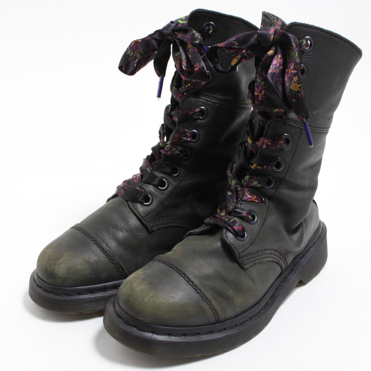 57ede82adb1 Doctor Martin Dr.Martens AIMILITA cap toe 9 hall boots US5 Lady's 23.5cm  /bom3890