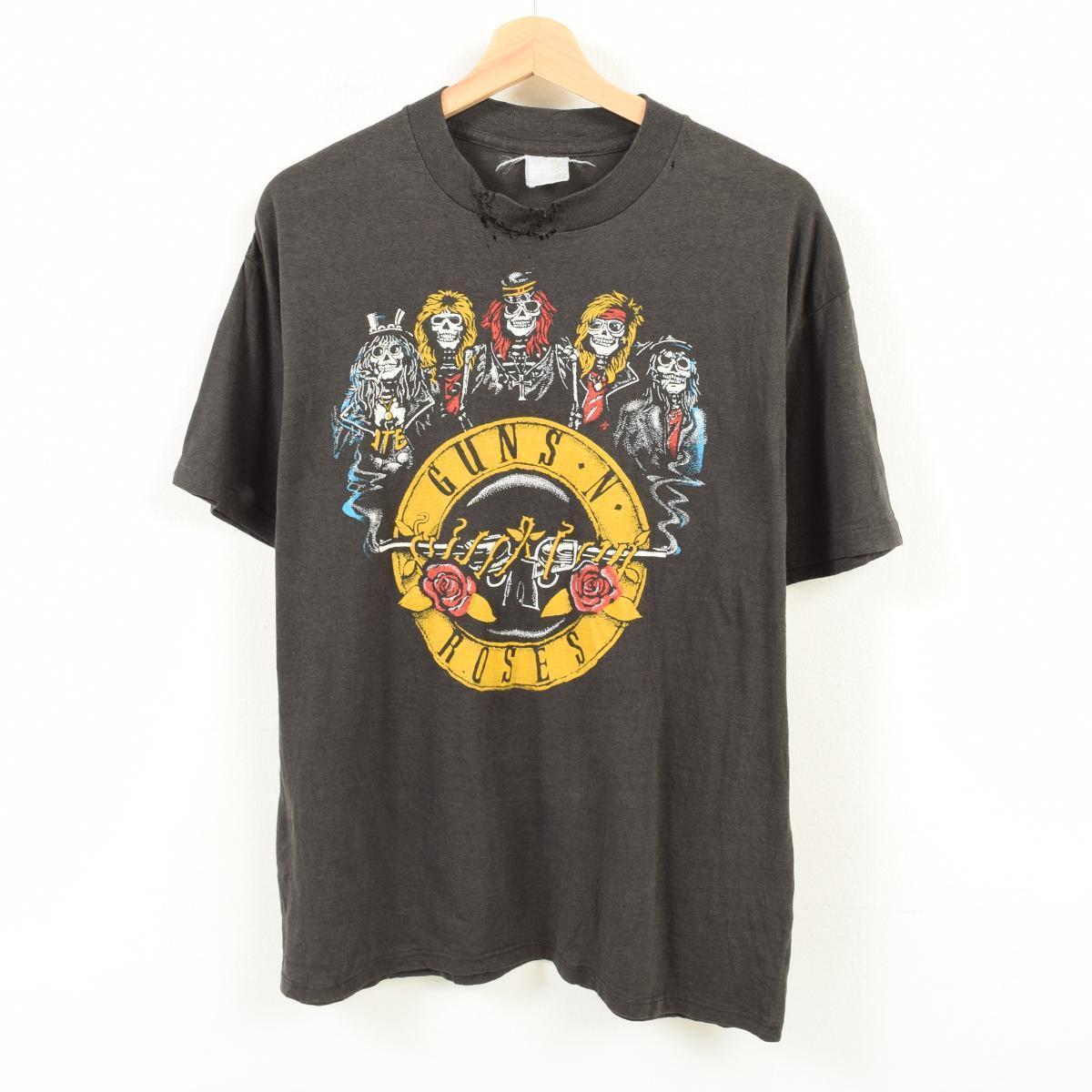 ~90年代 GUNS N' ROSES ガンズアンドローゼズ AXL WAS HERE バンドTシャツ メンズM /waq2392 【中古】 【180501】