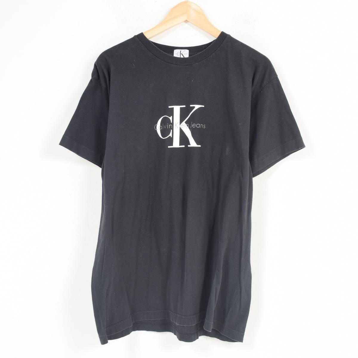 de8b43ba9 90s Calvin Klein Calvin klein JEANS logo print T-shirt men L /war0857 ...