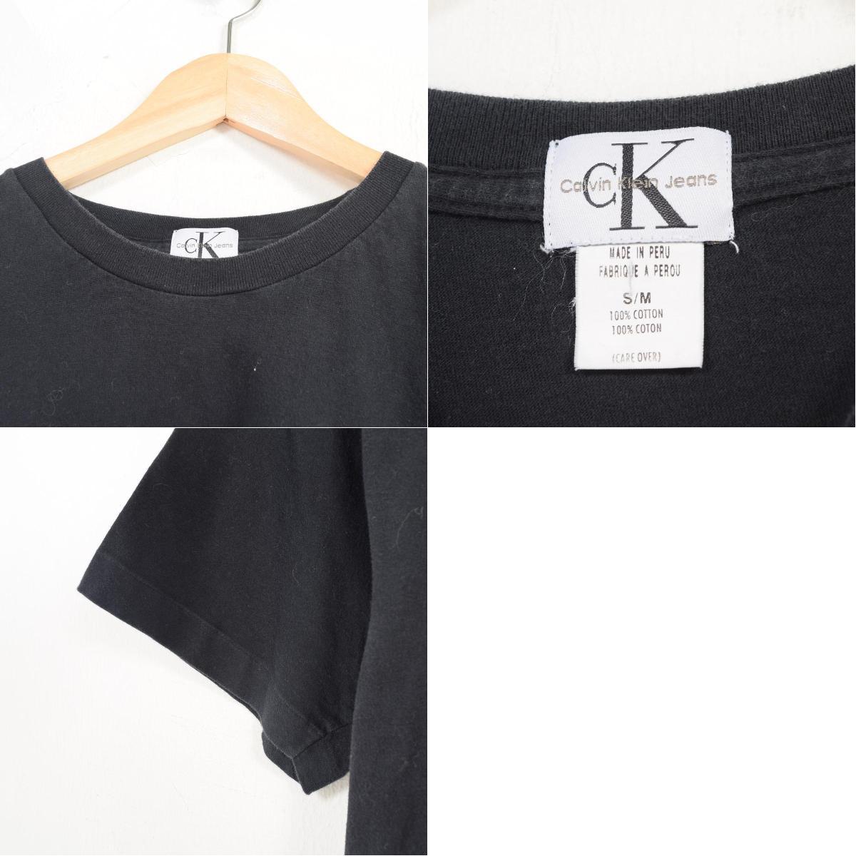 a2c9d9c16 ... 90s Calvin Klein Calvin klein JEANS logo print T-shirt men L /war0857
