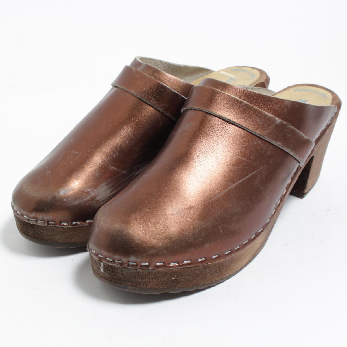 2f264d7faa9e3 39 Lady's 24.5cm /bom8157 made in TESSA CLOGS high-heeled shoes sabot  sandals Sweden