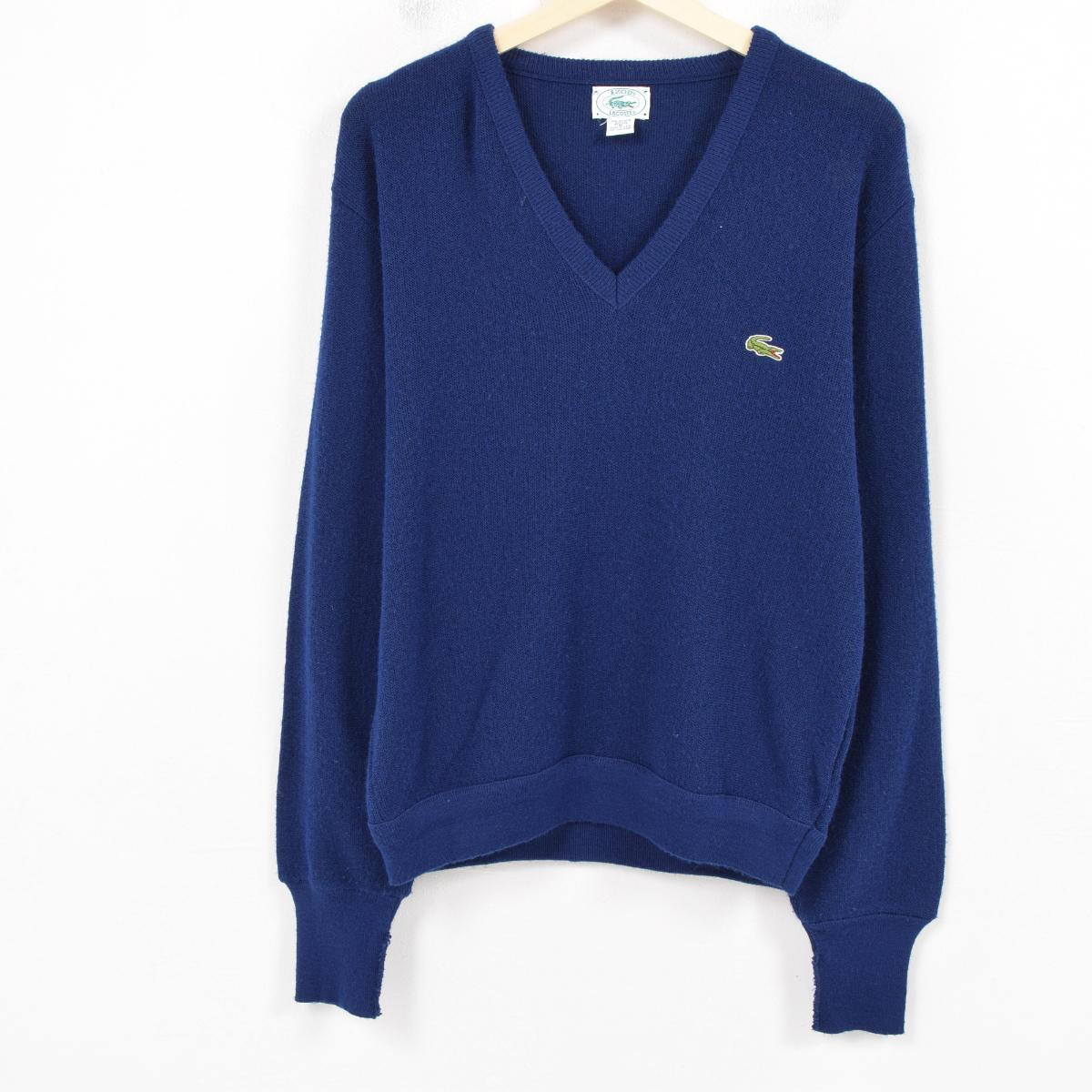 4fe78c39 Men M vintage /was0670 in the 80-90 generation made in Lacoste LACOSTE IZOD  acrylic knit sweater USA