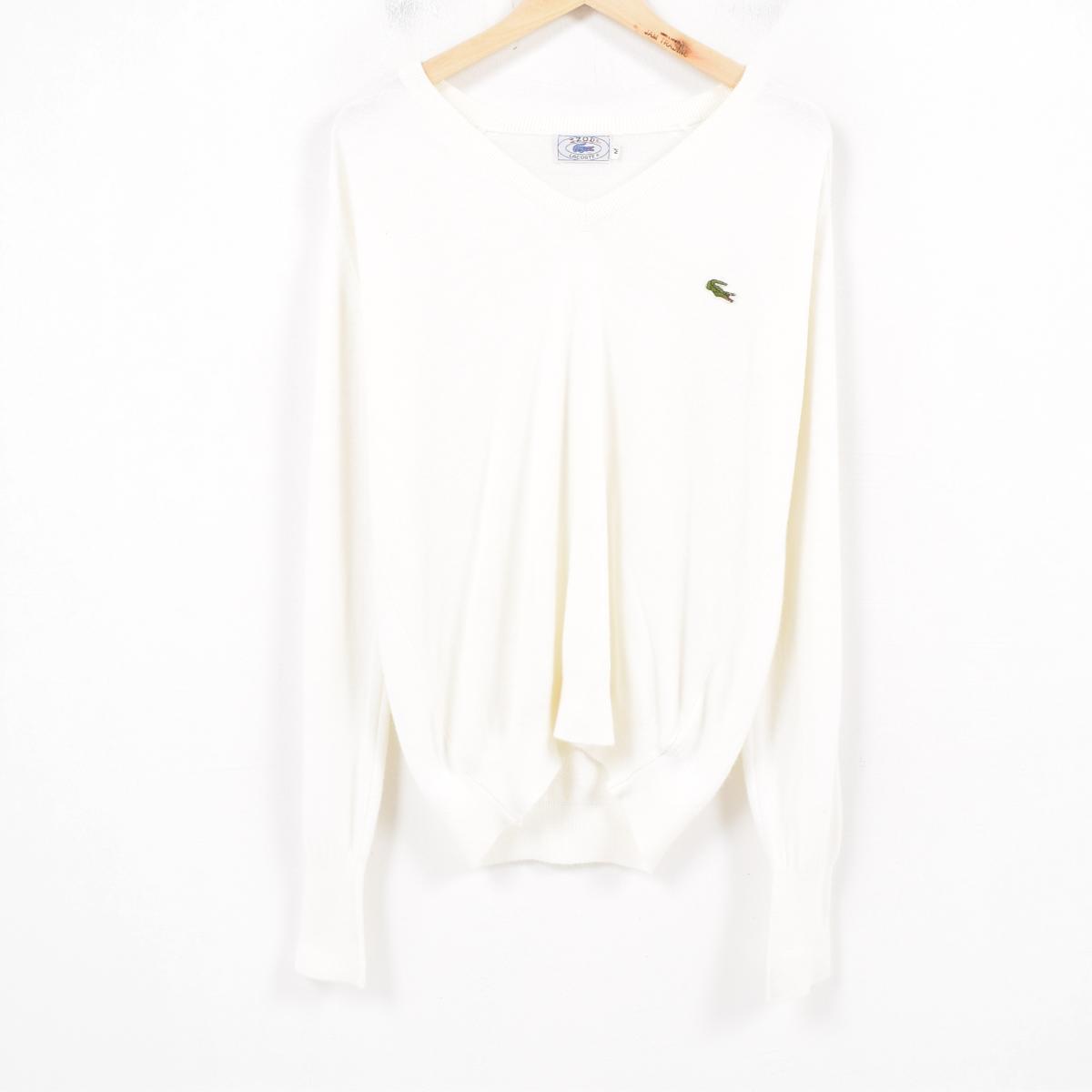 856432fa2502ec 70-80 generation Lacoste LACOSTE IZOD acrylic knit sweater men M vintage   was0802