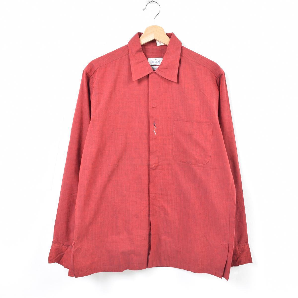 デッドストック DEADSTOCK 50~60年代 EXCELLO 半袖 オープンカラー ボックスシャツ メンズM ヴィンテージ /was1694 【中古】【古着屋JAM】【n1807】 【180618】