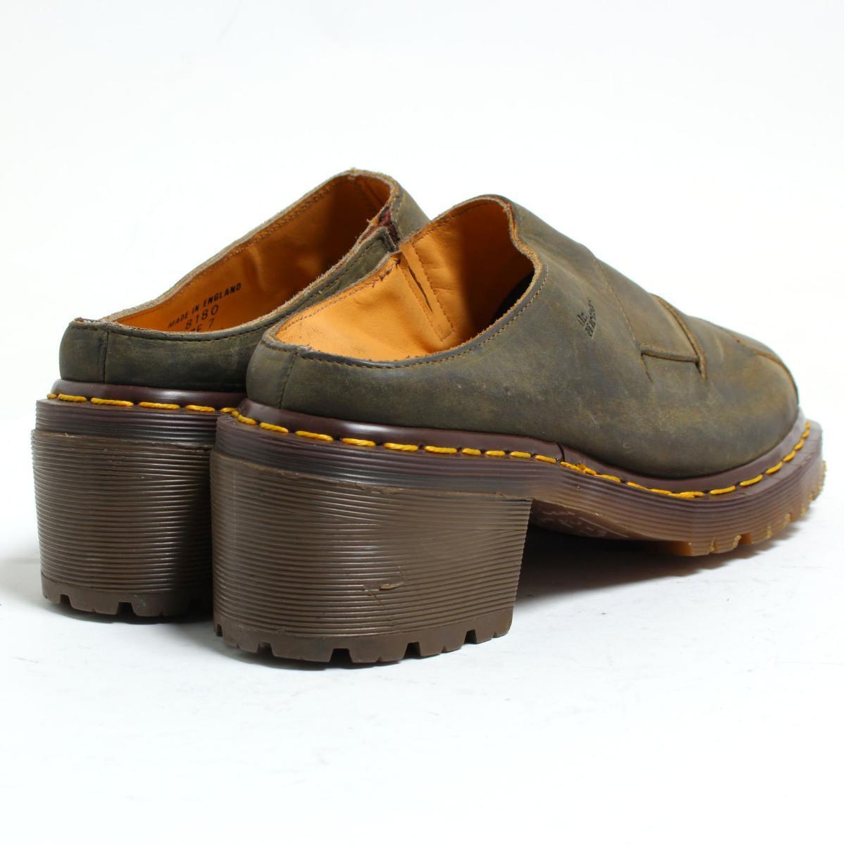 UK7 men 25.5cm /bon0698 made in the doctor Martin Dr.Martens slip-on shoes U.K.
