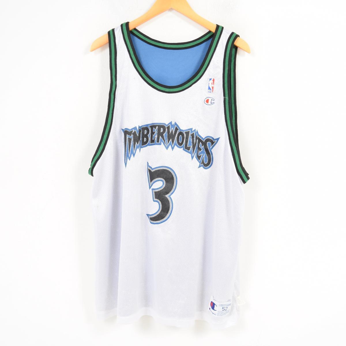 0247bbef5bb Champion Champion NBA MINNESOTA TIMBERWOLVES Minnesota Timberwolves STEPHON  MARBURY Stephon Marbury game shirt replica uniform men ...