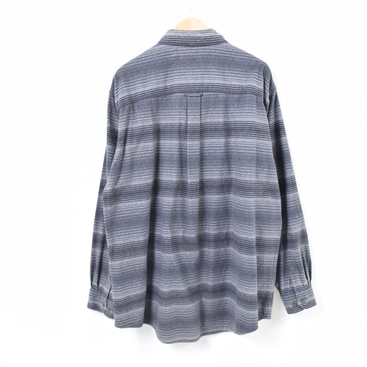 9925bc4d27 Ulrich WOOLRICH horizontal stripes long sleeves button-down shirt men XXL  /waq7009
