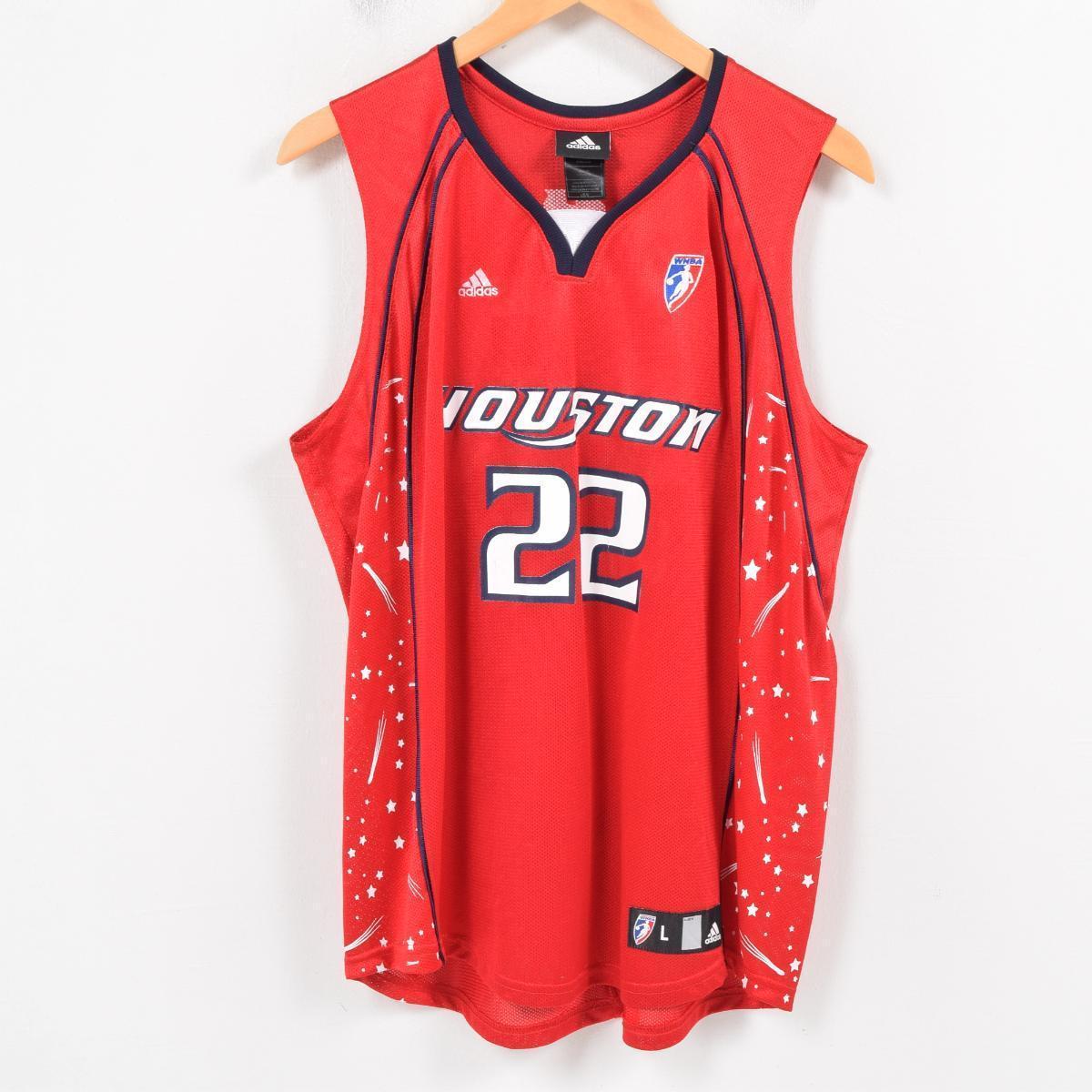 e61827f0024 Adidas adidas WNBA HOUSTON ROCKETS ヒューストンロケッツシェリルスウープス SHERYL SWOOPES game  shirt replica uniform Lady s XL  wat6185
