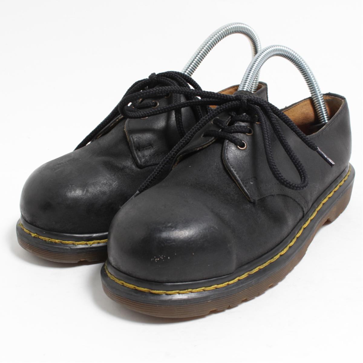 ドクターマーチン Dr.Martens 3ホールシューズ スチールトゥ 英国製 UK4 レディース22.5cm /bon1446 【中古】【古着屋JAM】 【180610】
