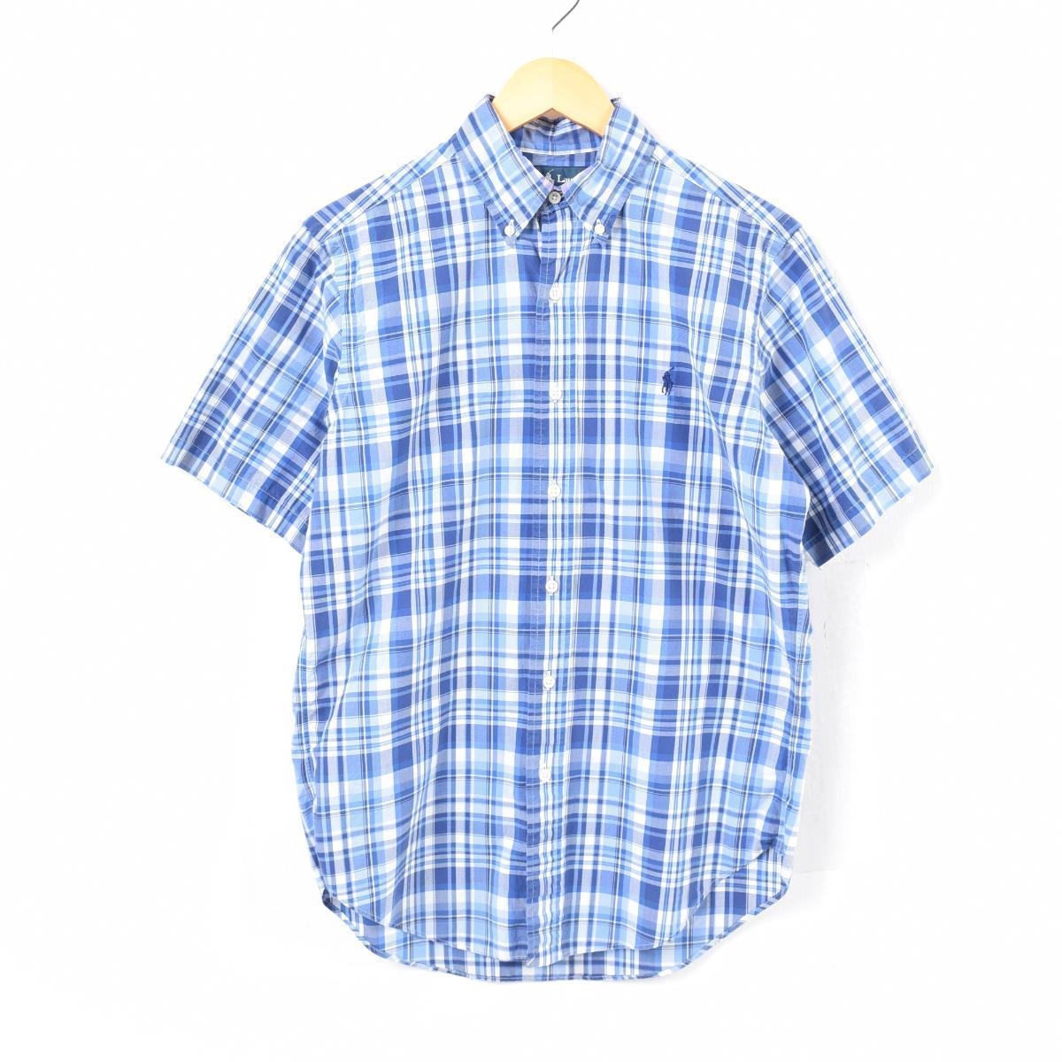 ポロ シャツ チェック マドラス ボーイズ Polo Ralph Lauren 【並行輸入品】 半袖 Cotton Madras Shirt BOYS 21A425665T20 YA ラルフローレン