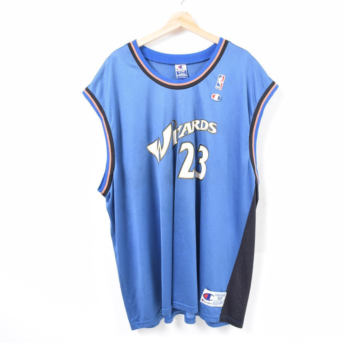 best sneakers 934e6 6e2f2 90s champion Champion NBA WASHINGTON WIZARDS Washington Wizards MICHAEL  JORDAN Michael Jordan game shirt replica uniform men XXL /waq7246