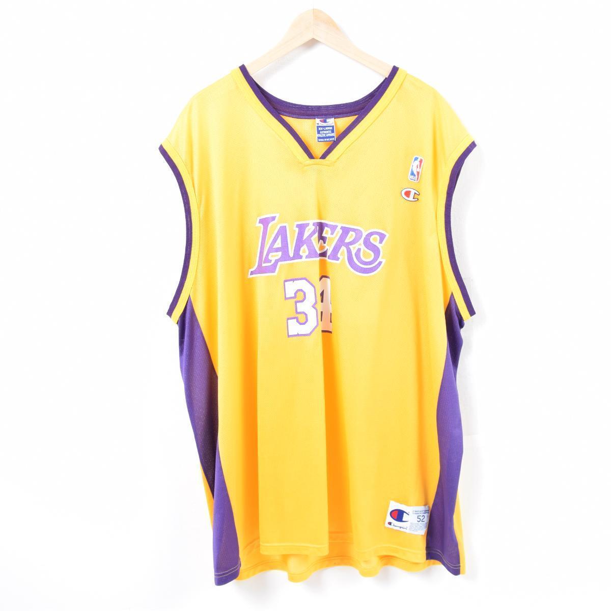 90s champion Champion NBA LOS ANGELES LAKERS Los Angeles Lakers Shaquille  O Neal Shaquille O Neal game shirt replica uniform men XXL  waq7262 2044b1102