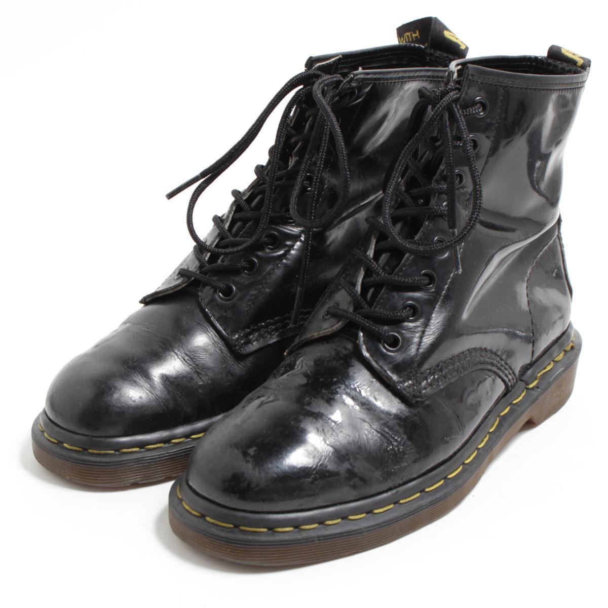 ドクターマーチン Dr.Martens 8ホールブーツ 英国製 UK6 メンズ24.5cm /bon1015 【中古】【古着屋JAM】 【180623】