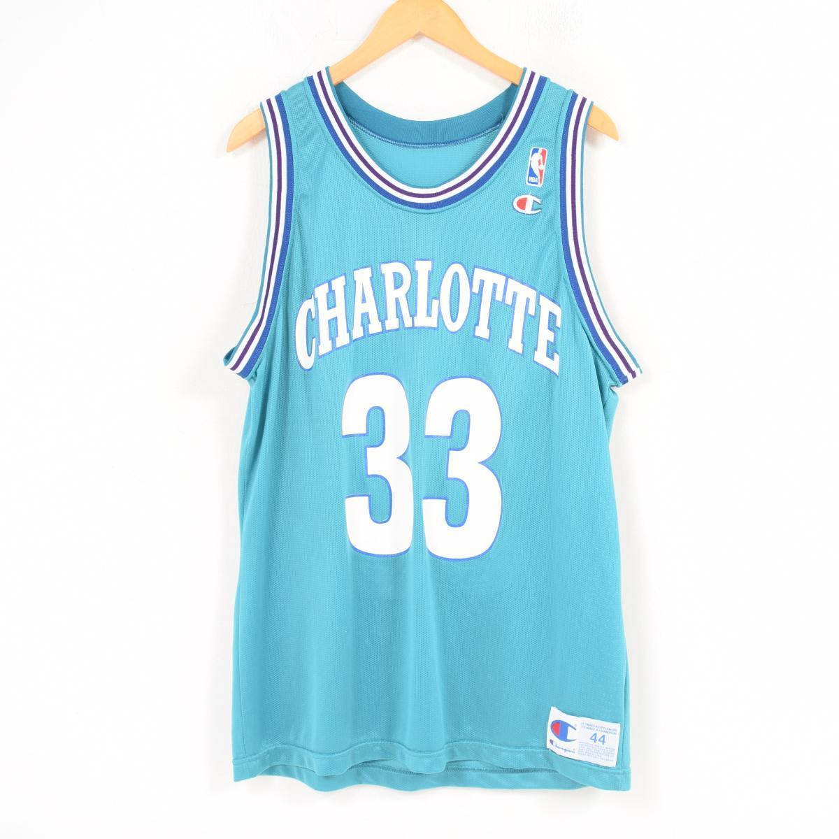 c9fee727636 Men XL  wat9045 in the 90s made in champion Champion NBA CHARLOTTE HORNETS  Charlotte Hornets ...