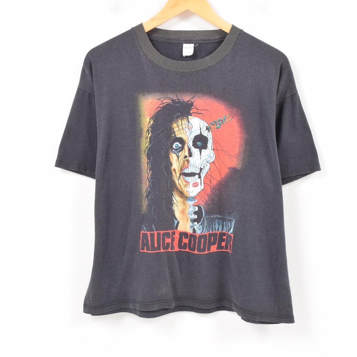 80年代 SPORTSWEAR ALICE COOPER アリスクーパー TRASH アルバム バンドTシャツ USA製 メンズM ヴィンテージ /wap7413 【中古】【古着屋JAM】 【180701】