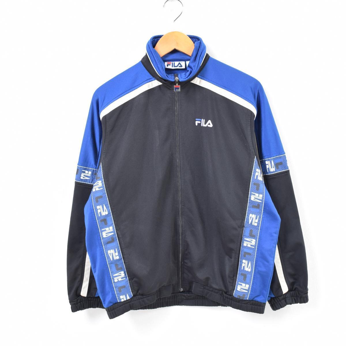 d883200b2b VINTAGE CLOTHING JAM  90s Fila FILA logo tape jersey truck jacket ...