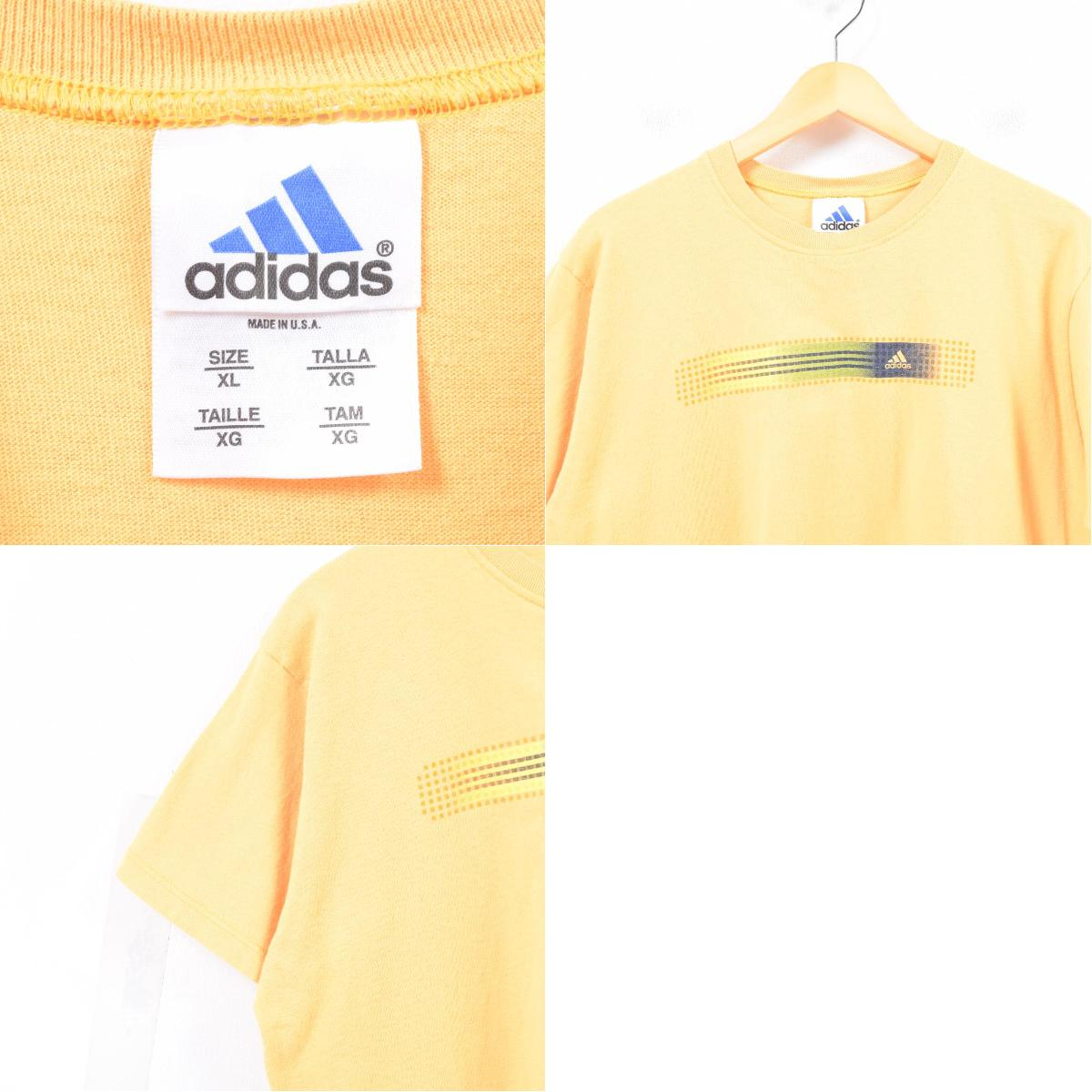 4f52838c4 ... Men L /was5104 in the 90s made in Adidas adidas logo T-shirt USA