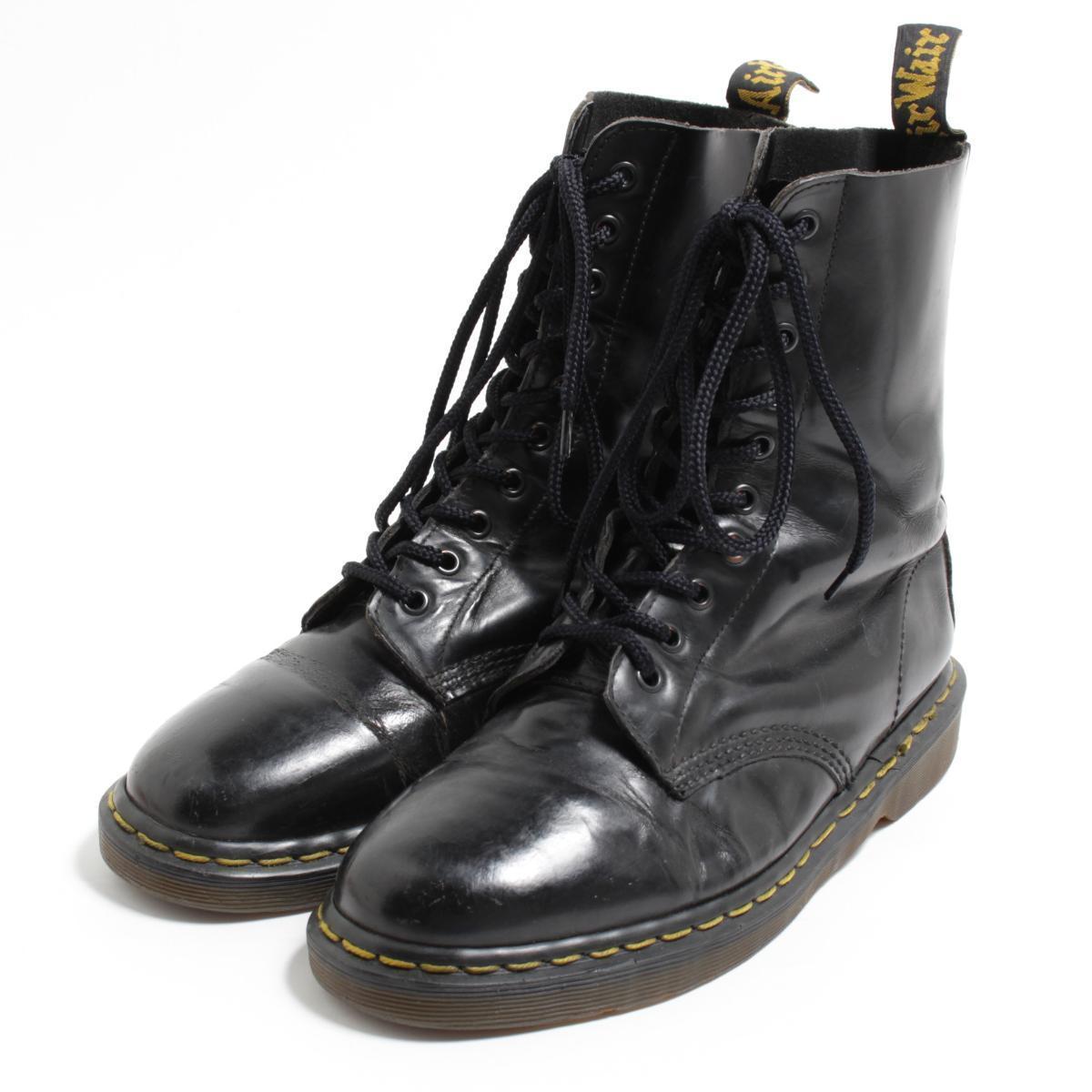 ドクターマーチン Dr.Martens 10ホールブーツ 英国製 UK8 メンズ26.5cm /bom6571 【中古】【古着屋JAM】 【180705】