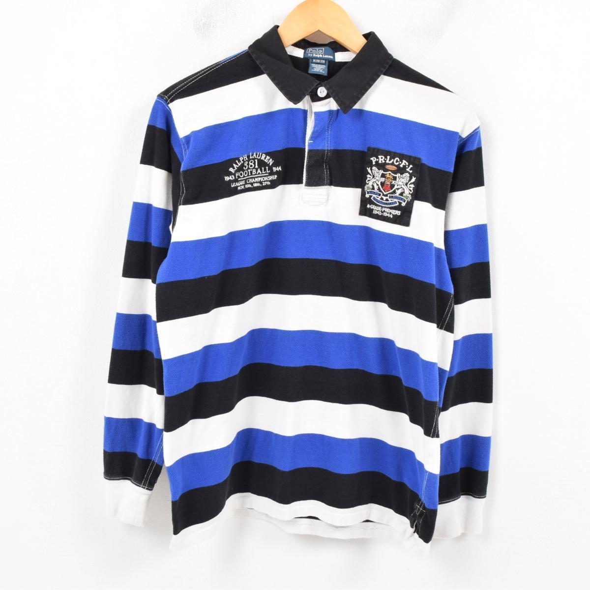 Horizontal Stripes Sleeves Men Rugby Ralph Long By Lauren M Polo Numbering Shirt Wap7649 qSpUzMVG