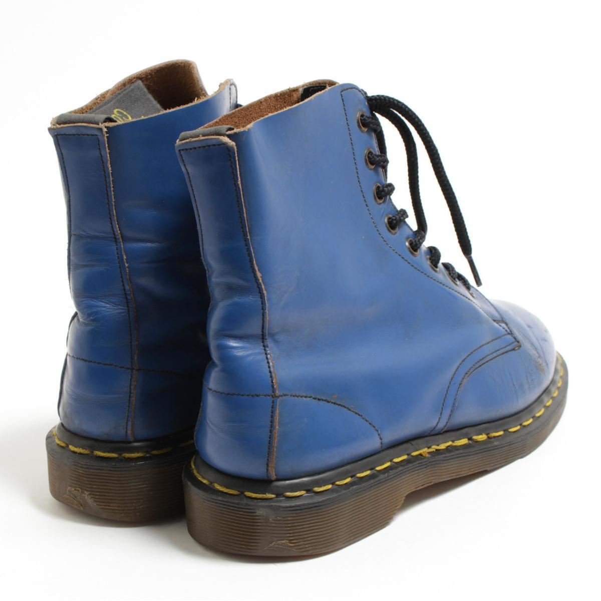 UK6 Lady's 24.5cm /bom6468 made in the doctor Martin Dr.Martens white company 8 hall boots U.K.
