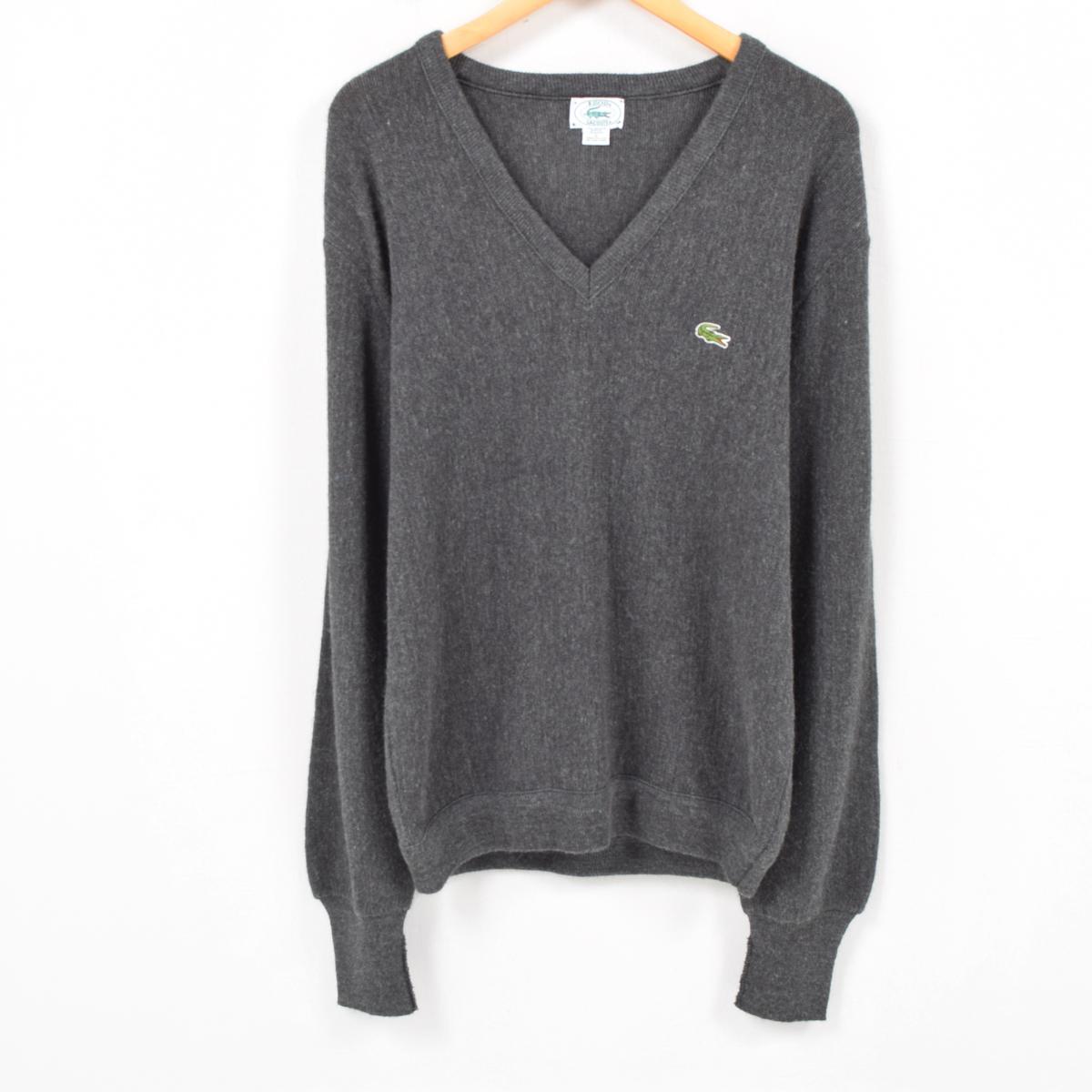 529084b891b85 Men L vintage /wap7759 in the 80-90 generation made in Lacoste LACOSTE IZOD  acrylic knit sweater USA
