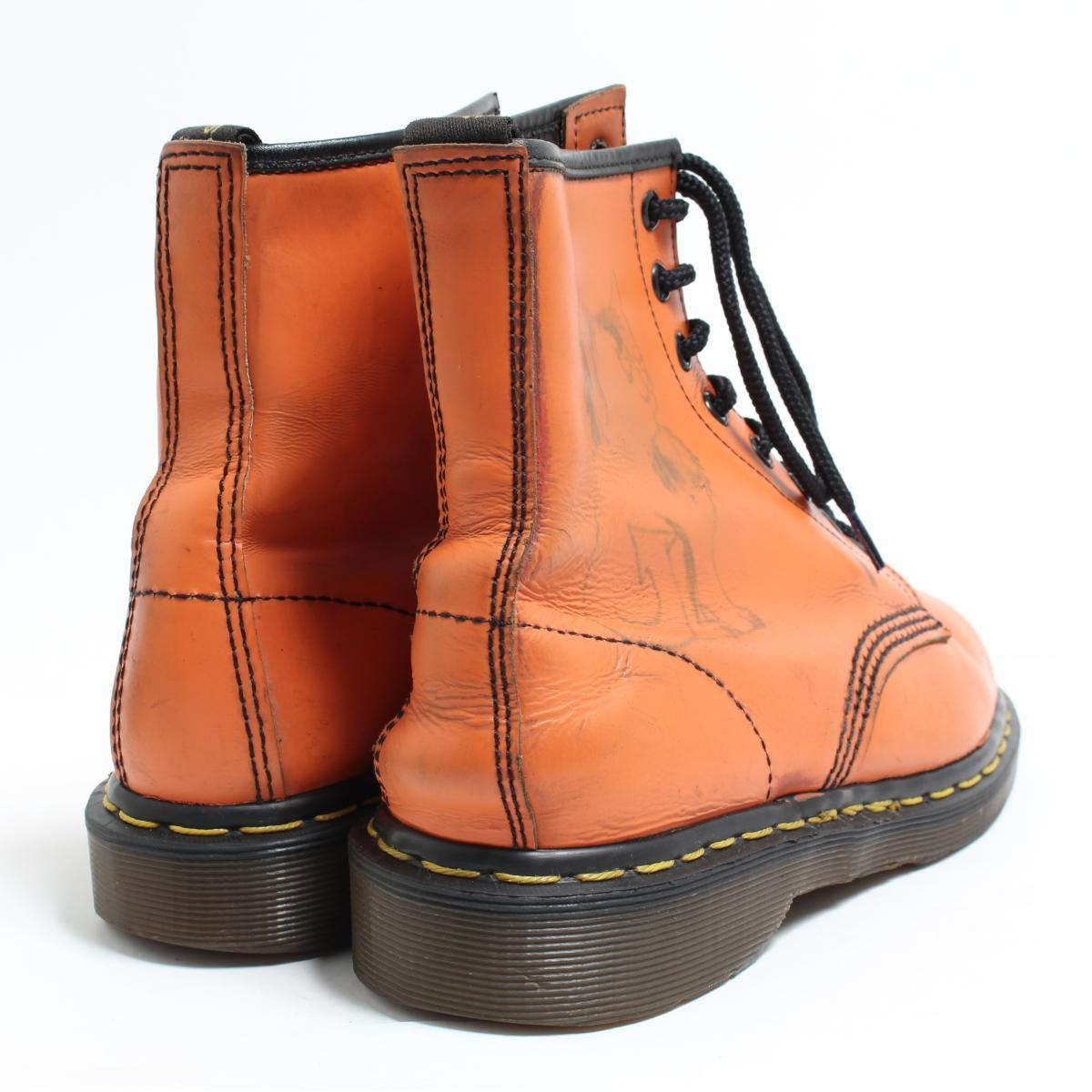 Lady's 24.5cm /bom6422 made in the doctor Martin Dr.Martens 8 hall boots U.K.