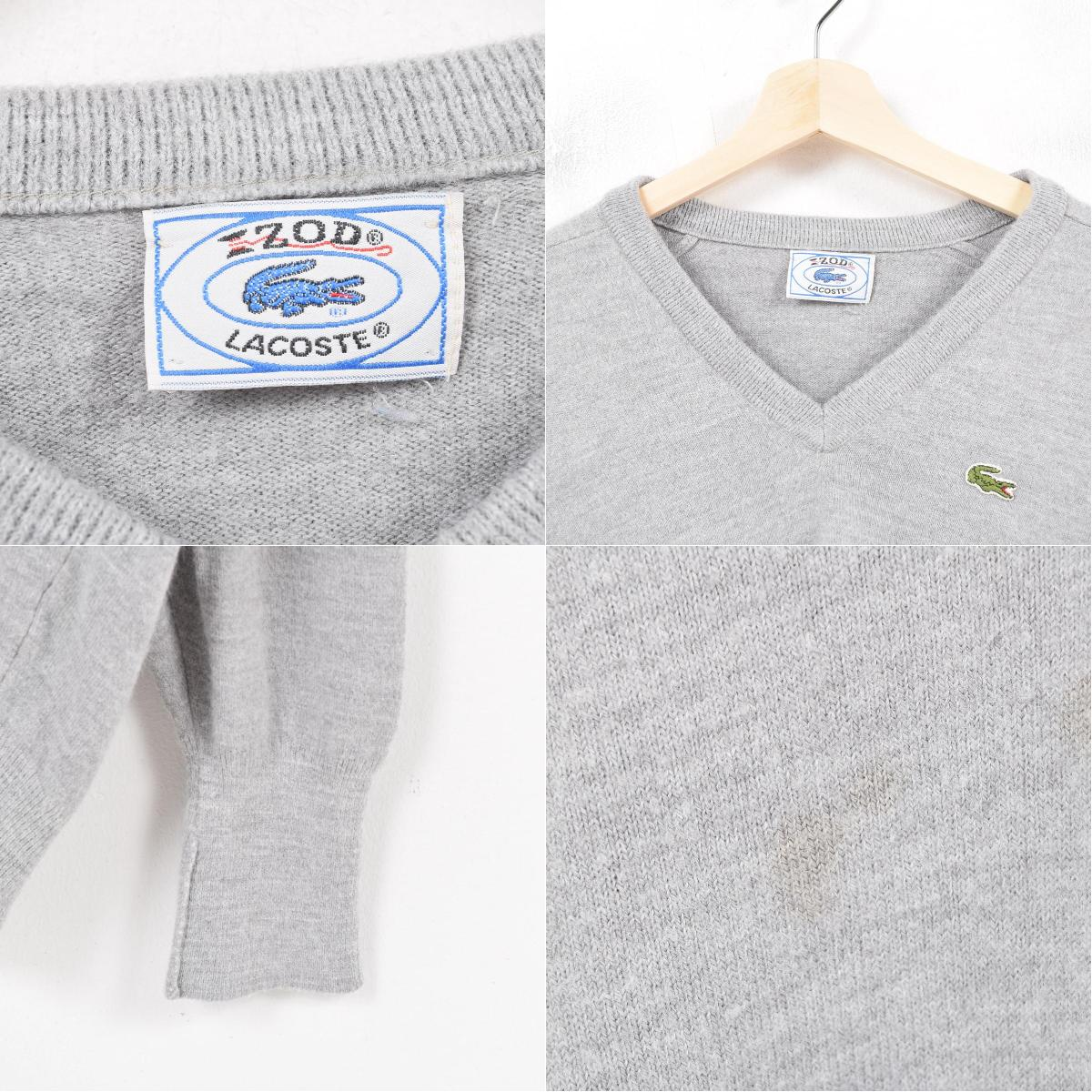 2161803a 70-80 generation Lacoste LACOSTE IZOD V neck acrylic knit sweater men M  vintage /wap8108