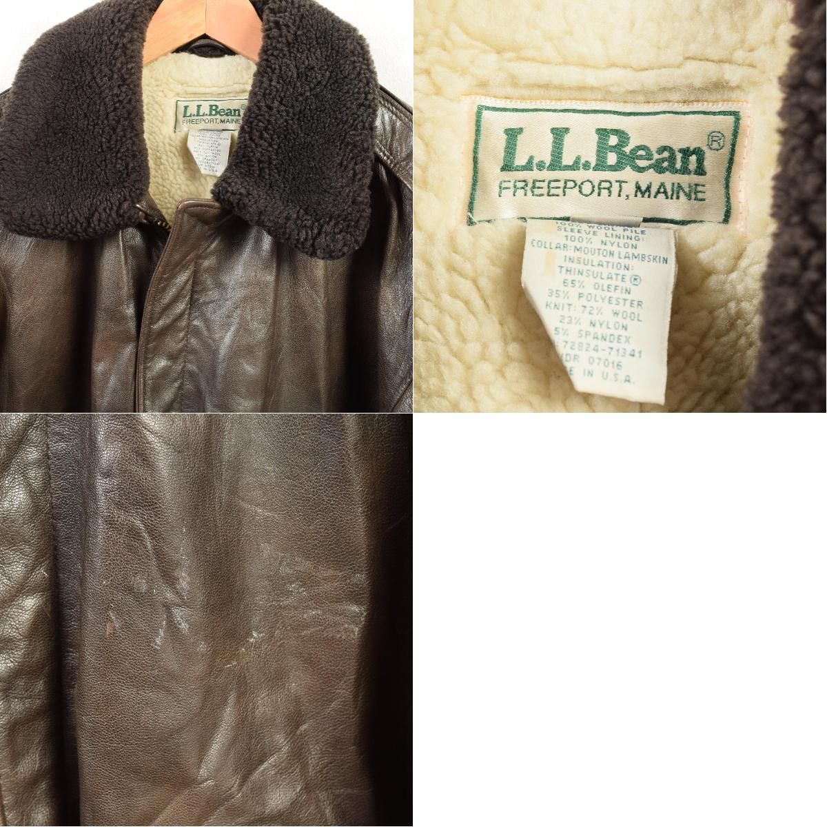 13d8ae64d Men L vintage /wav3821 in the private article 70~80 generation made in L.  L. Bean L.L.Bean G-1 type leather flight jacket USA