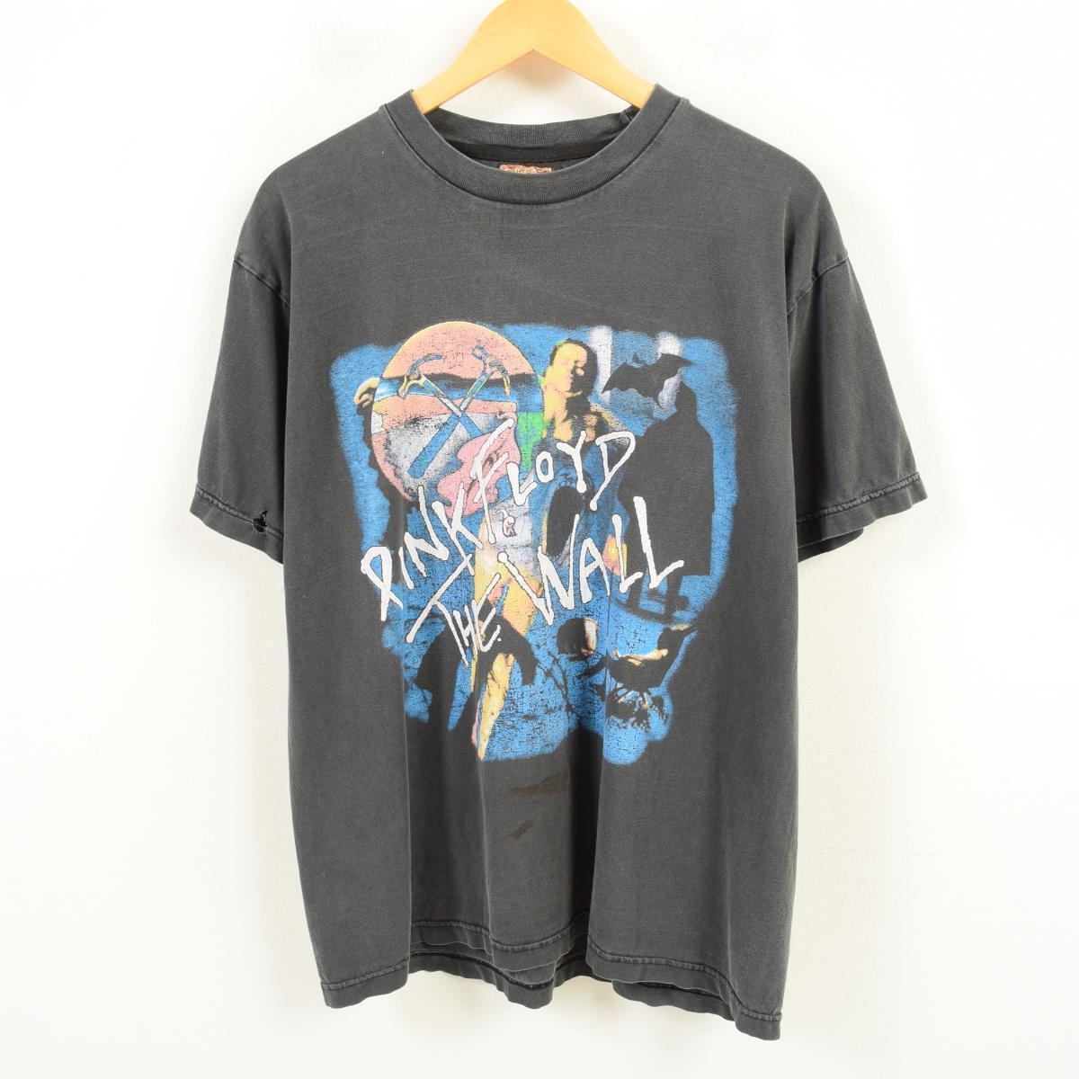 90年代 Solid Rock PINK FLOYD ピンクフロイド アルバム THE WALL バンドTシャツ メンズXL /wav3825 【中古】 【180715】