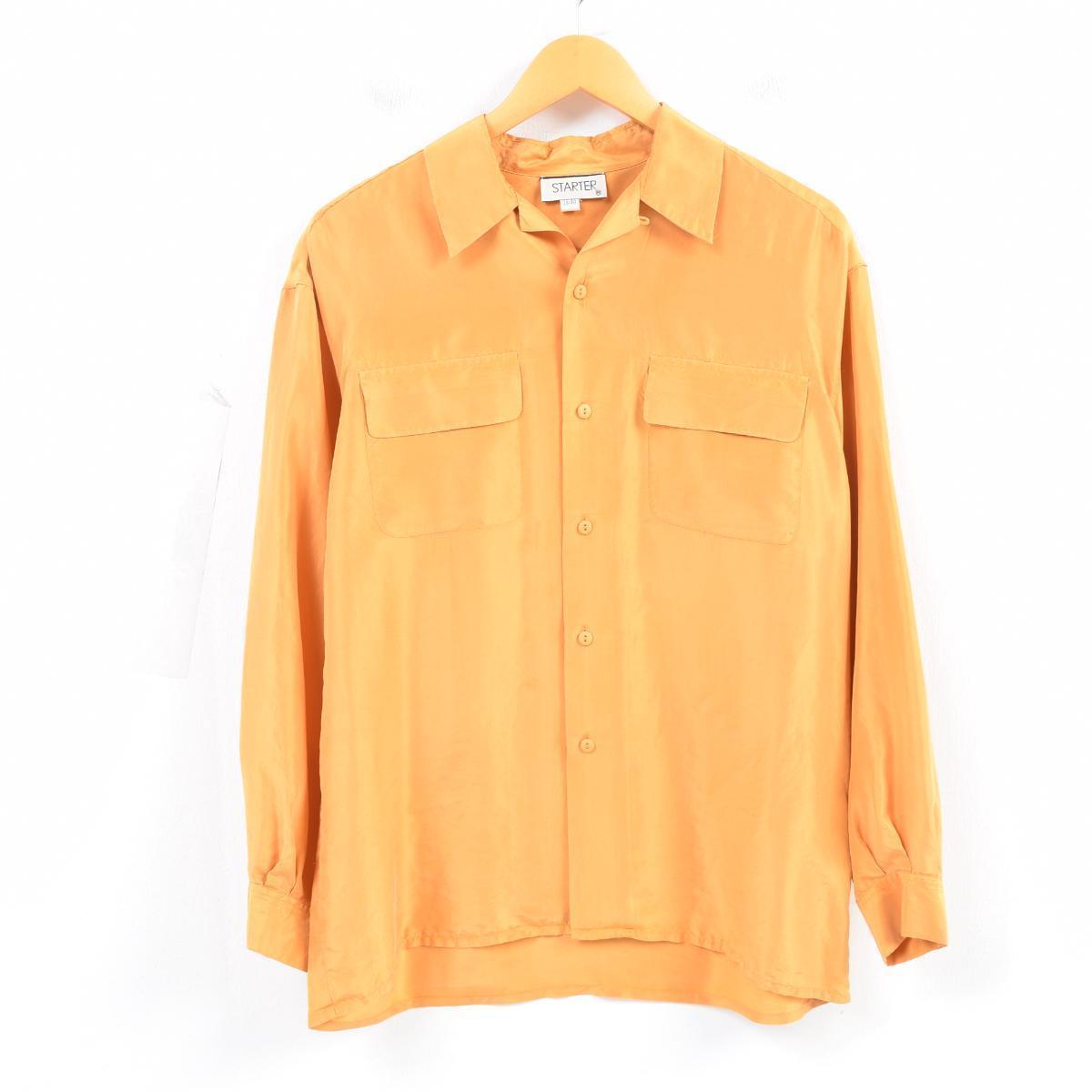 6c13bd999eaa4e VINTAGE CLOTHING JAM  Open collar long sleeves silk shirt men L ...