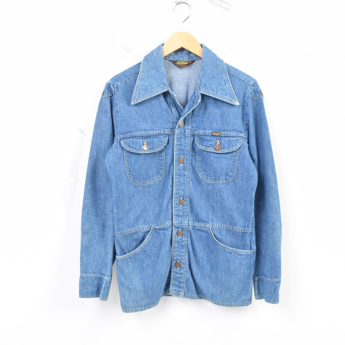 a17495ae8e Men M vintage  was4158 in the 70s made in Wrangler Wrangler WRAPID TRANSIT denim  shirt jacket USA