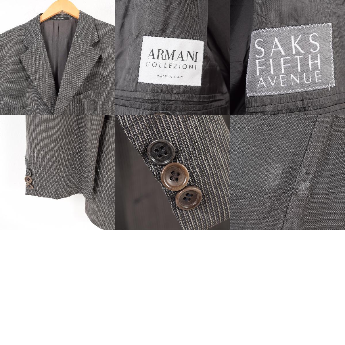 big sale c62bb 942a4 Men M /waw1111 made in Giorgio Armani Giorgio Armani ARMANI COLLEZIONI  アルマーニコレッツォーニストライプ pattern wool tailored jacket Italy