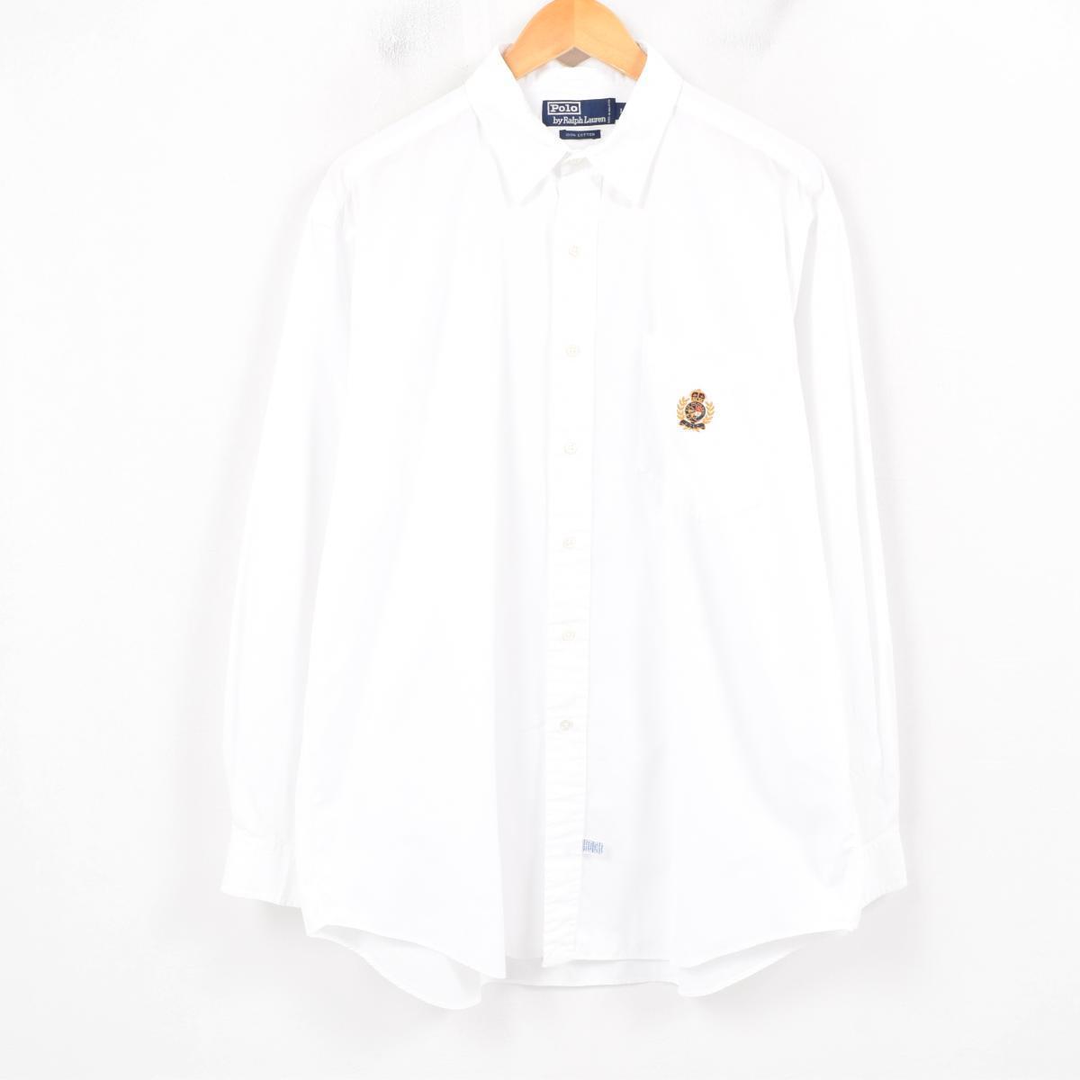 60bb557c 90s Ralph Lauren Ralph Lauren long sleeves button-down shirt men XL /wau2989