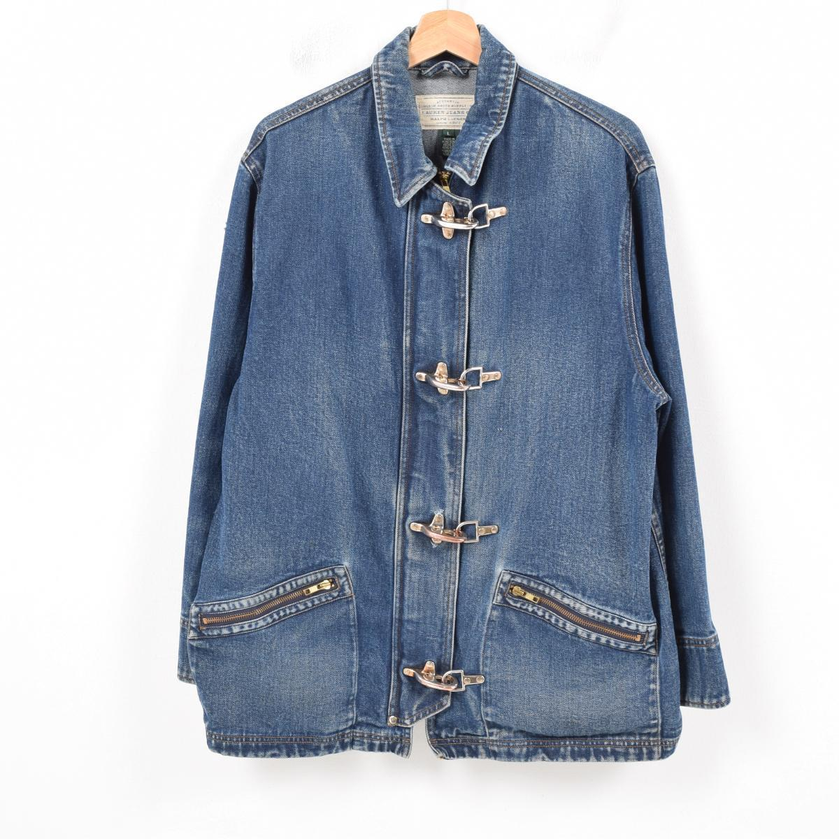 bf42df009a Ralph Lauren Ralph Lauren LAUREN JEANS CO denim fireman jacket Lady's XL  /wau7887