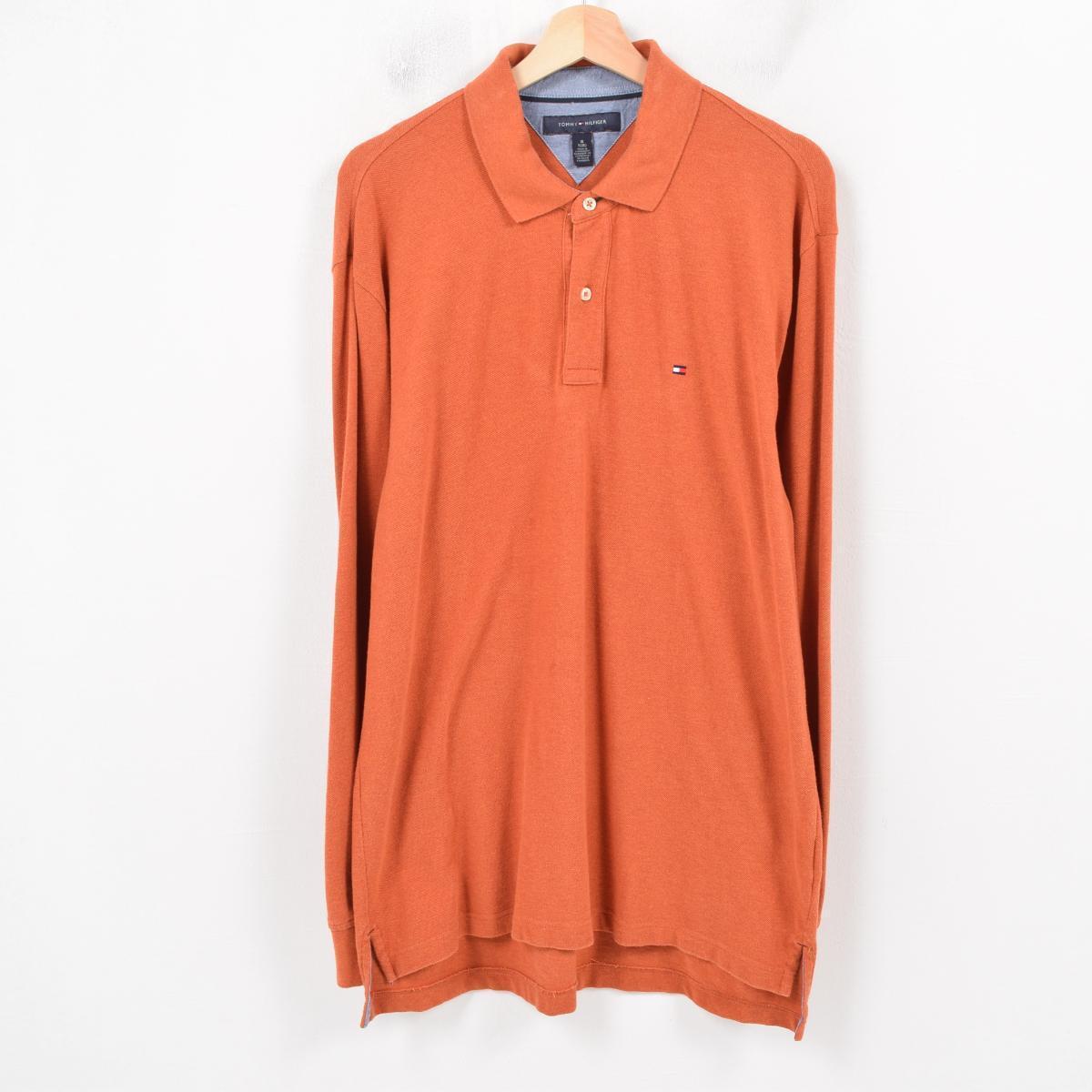 8048096e トミーヒルフィガー TOMMY HILFIGER long sleeves polo shirt men L /wau8290 ...