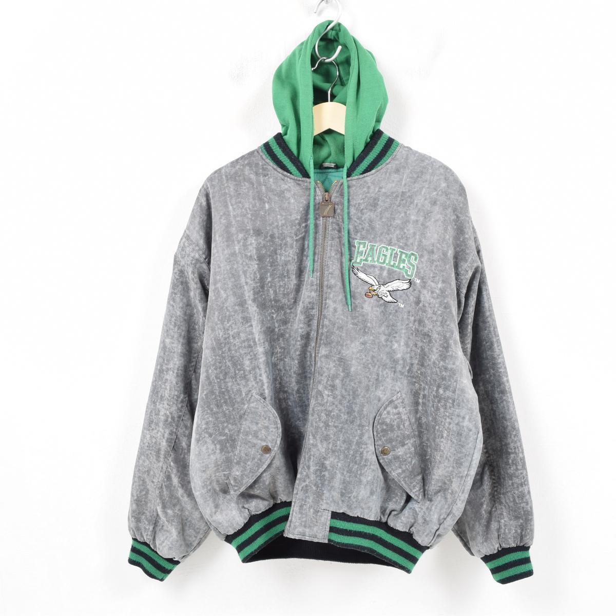 info for 4cc21 7e476 Nylon award jacket Award jacket men L /wau8337 with the LOGO 7 NFL  PHILADELPHIA EAGLES Philadelphia Eagles sweat shirt food