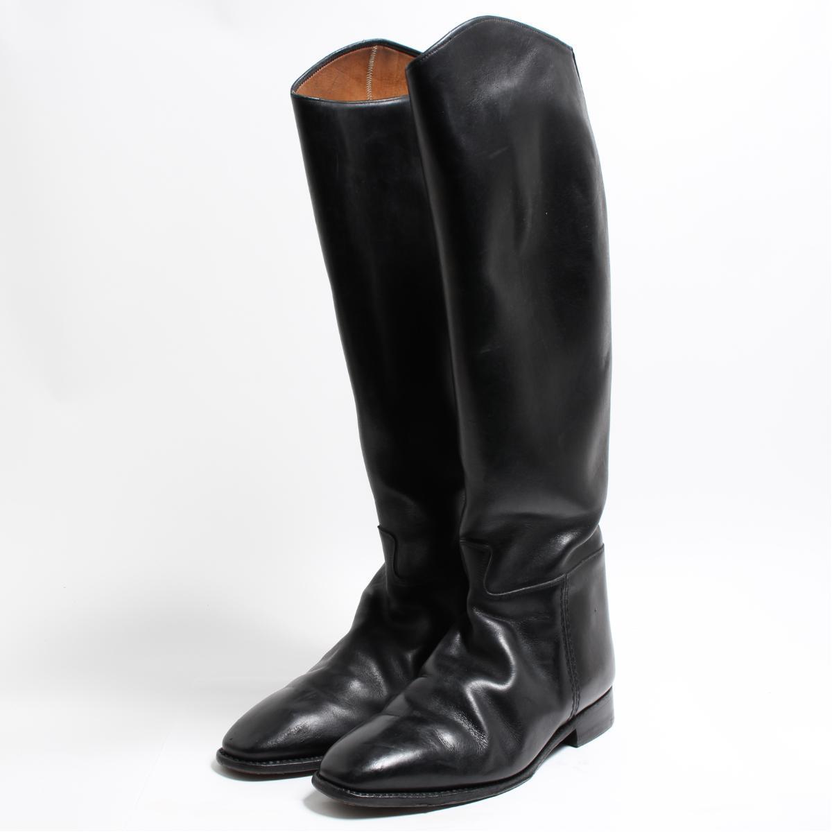 FUSSELL COMBINETTES ジョッキー乗馬ブーツ 英国製 UK9 メンズ27.5cm ヴィンテージ /bon6111 【中古】 【180915】
