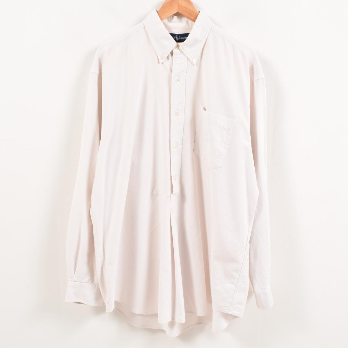 29152242 90s Ralph Lauren Ralph Lauren long sleeves pullover button-down shirt men XL  /wax8869 ...