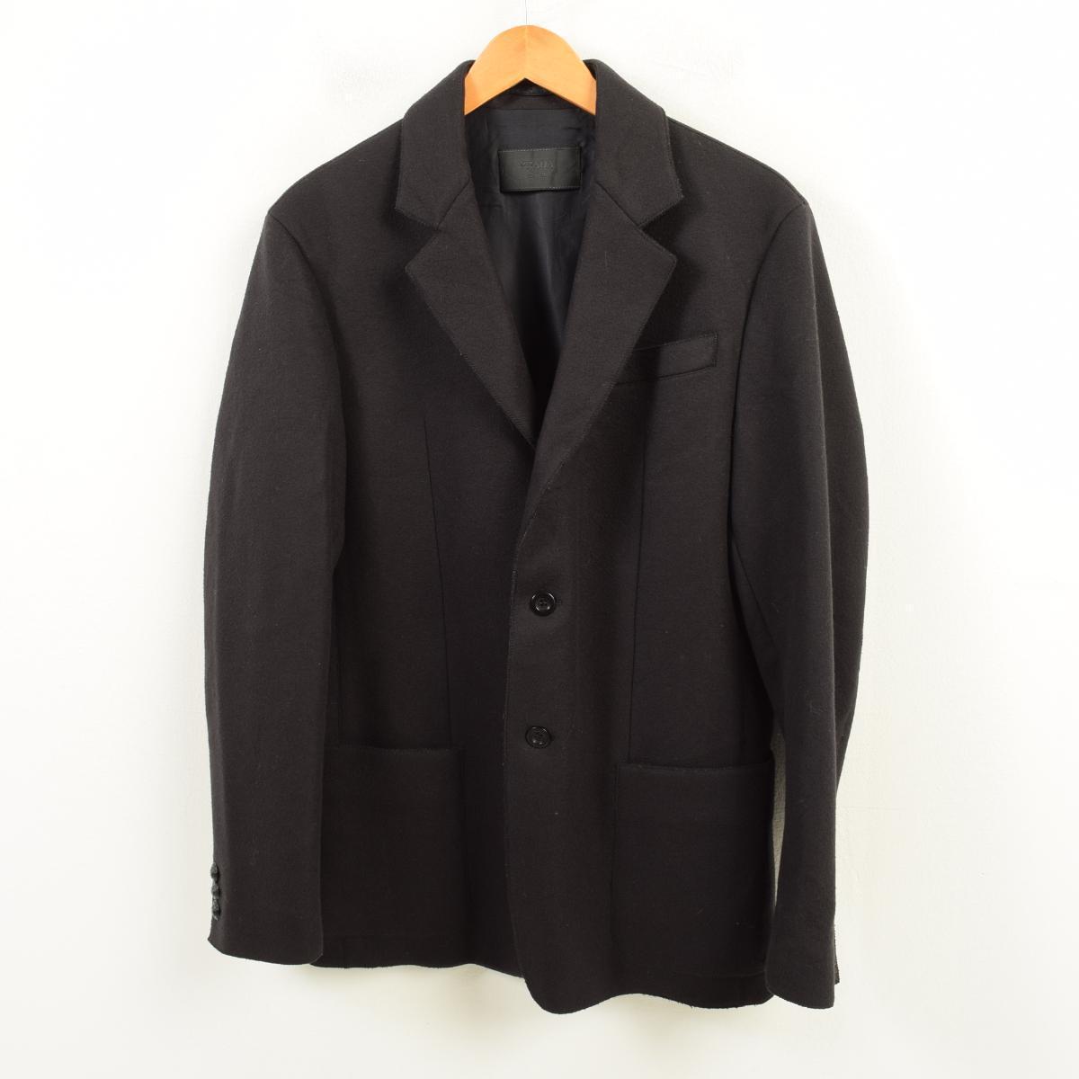 プラダ PRADA ウールテーラードジャケット 48 メンズL /wax5592 【中古】 【181016】【SVTG】