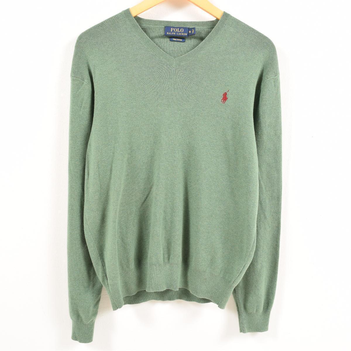 ae9322a2b Ralph Lauren Ralph Lauren POLO RALPH LAUREN V neck Pima cotton knit sweater  men M ...